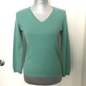 BCBG MaxAzria Silk and Cashmere Turquoise Sweater